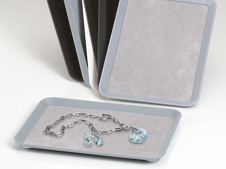 Presentation trays for watches and jewellery